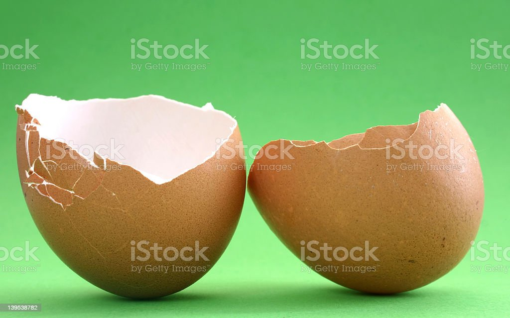 Broken eggshell #4 royalty-free stock photo