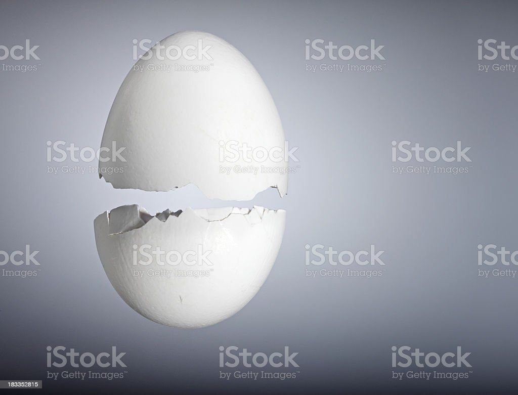 Broken eggshell royalty-free stock photo