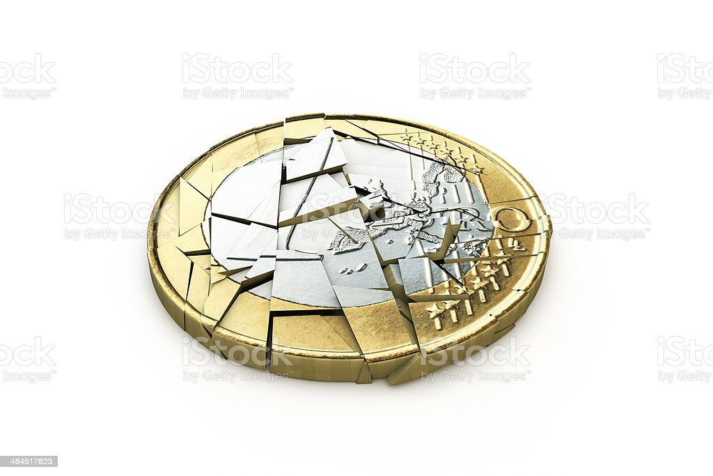 broken euro stock photo