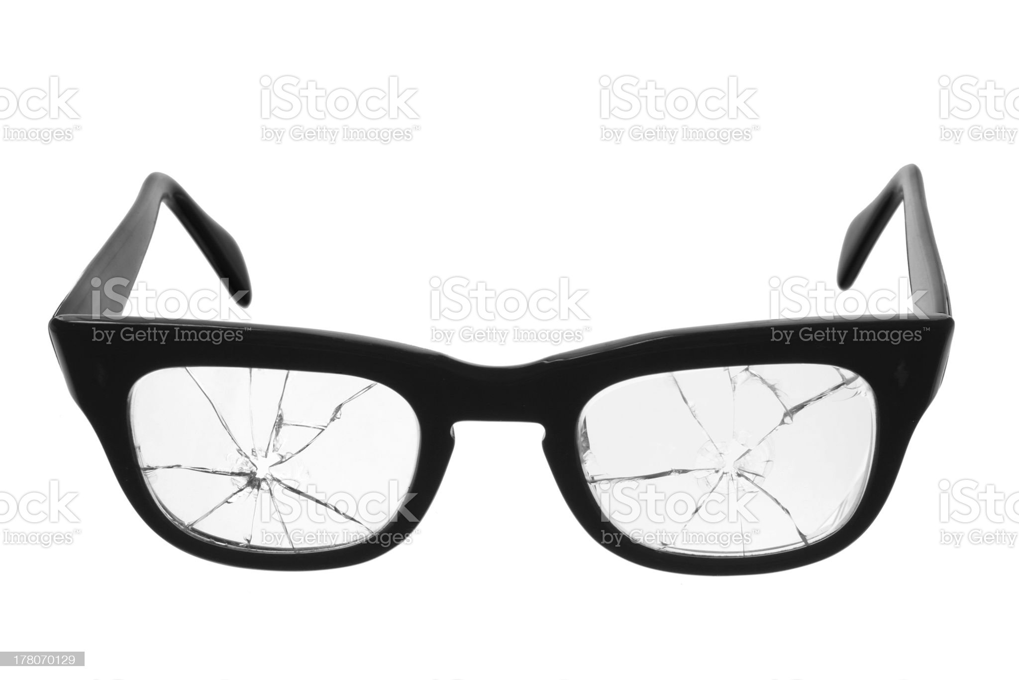 Broken Eyeglasses royalty-free stock photo