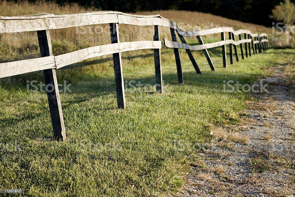 Broken Fence royalty-free stock photo