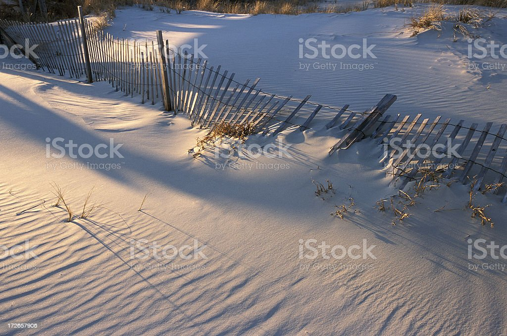 Broken Fence,Horizontal royalty-free stock photo