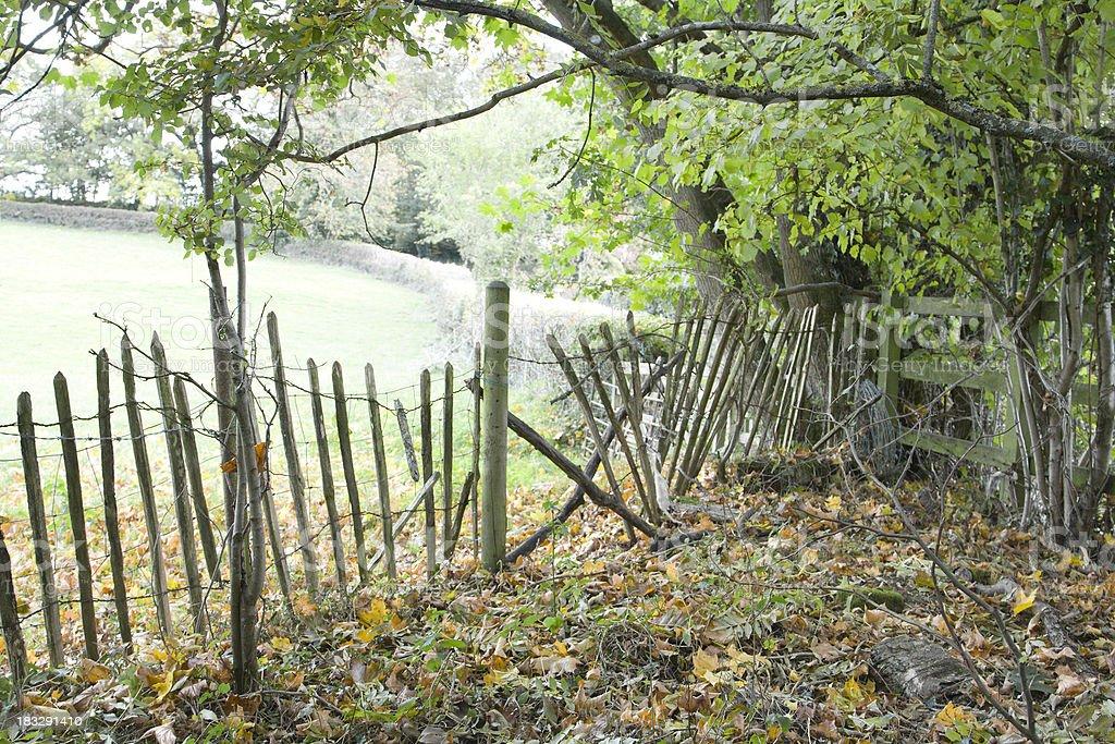 Broken Fences stock photo
