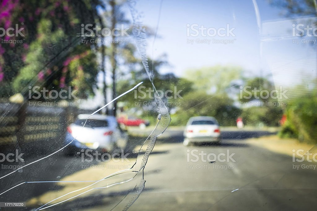 Broken front glass royalty-free stock photo