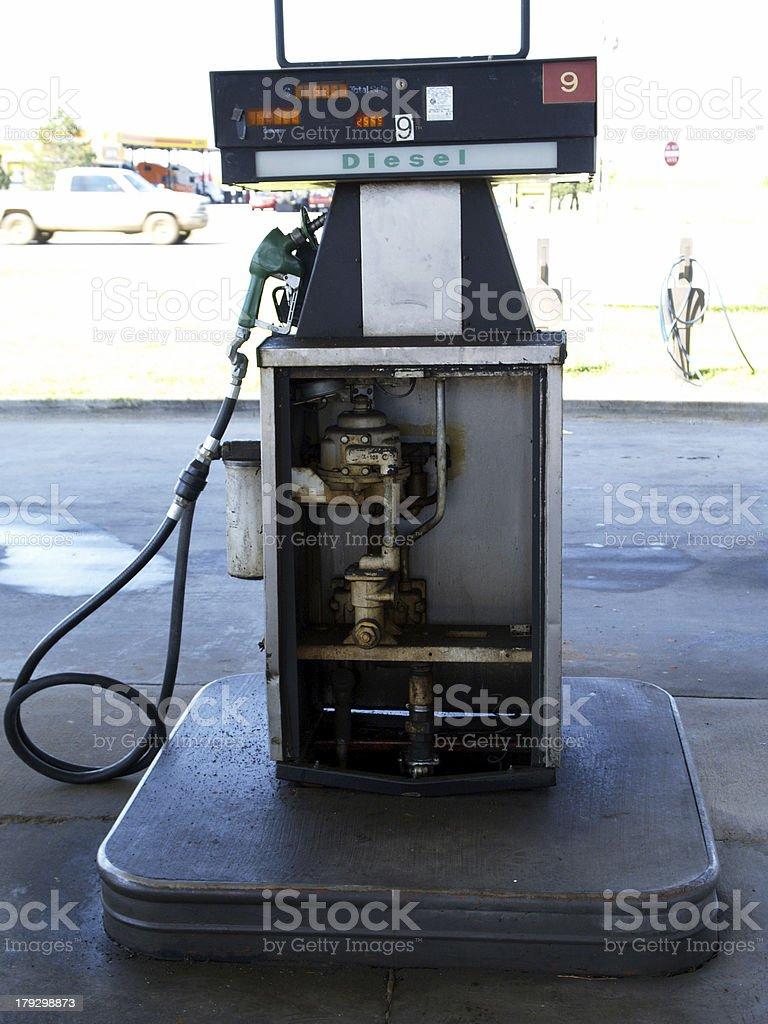 Broken Gas Pump (color) stock photo