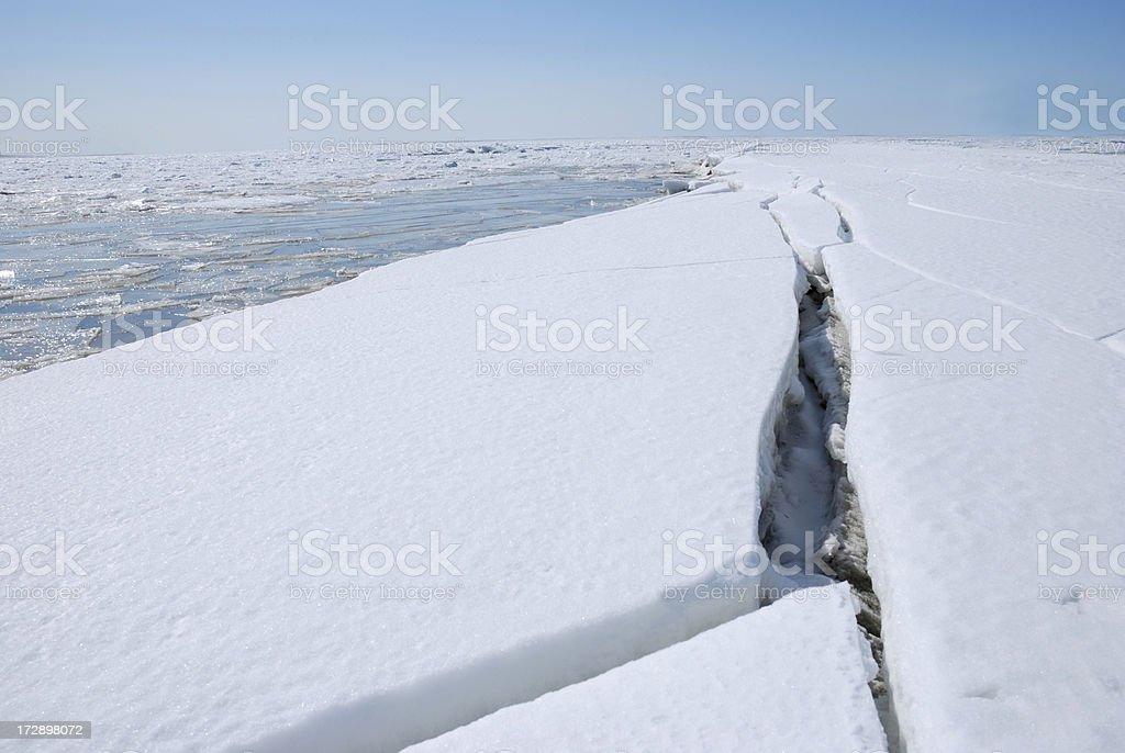 broken glacier royalty-free stock photo