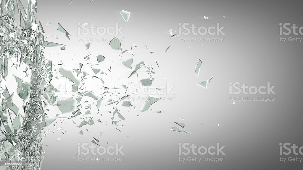 broken glass background stock photo