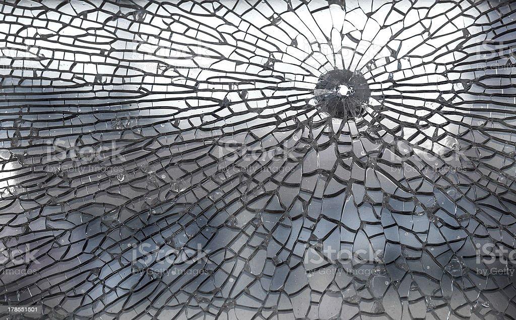 Broken glass closeup background texture royalty-free stock photo