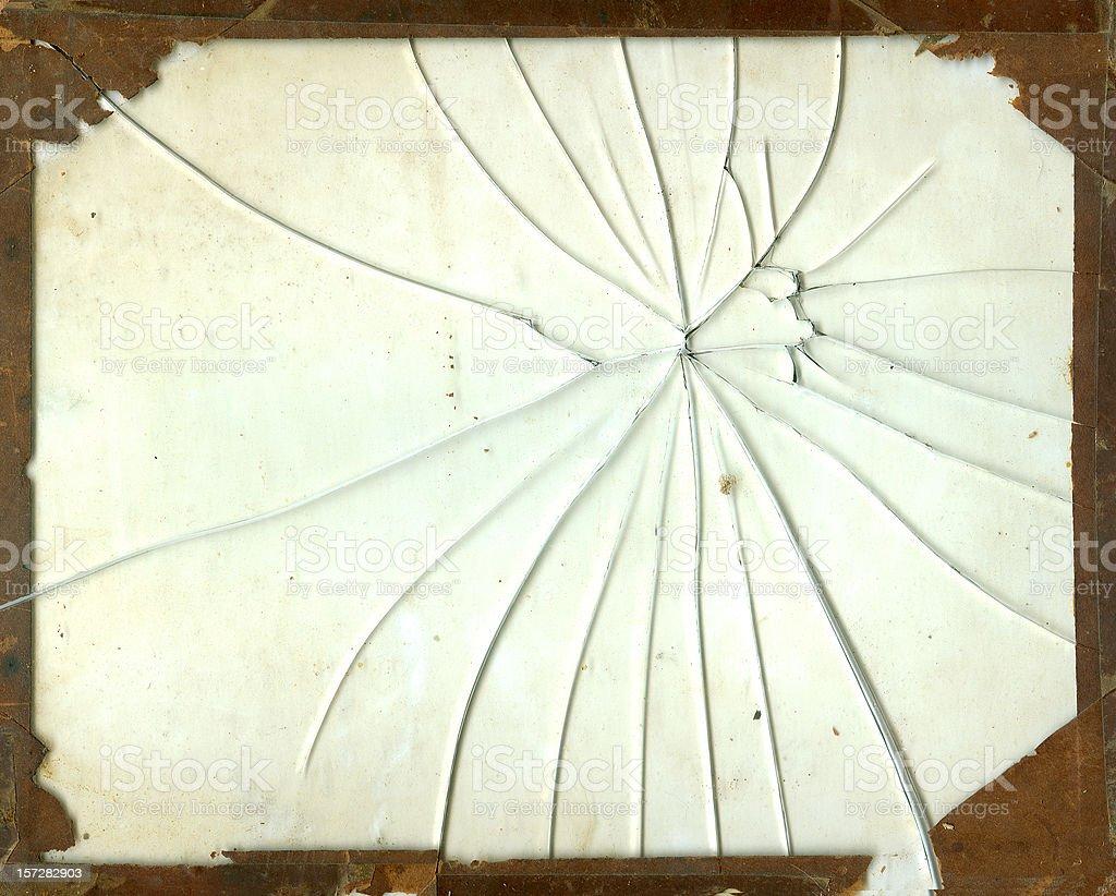 Broken Glass Frame royalty-free stock photo