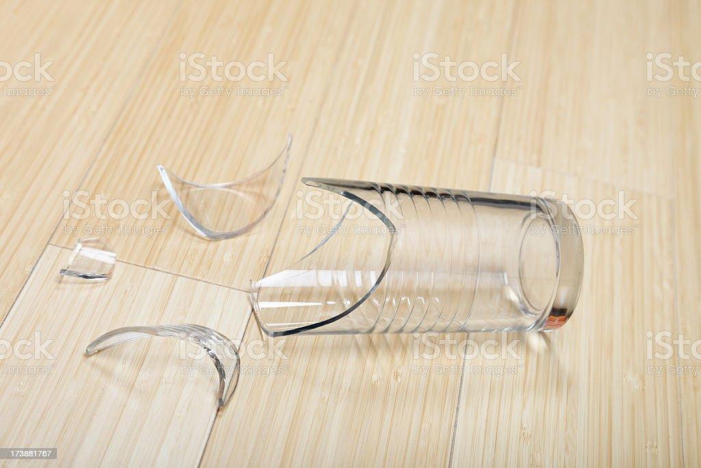 Broken glass on the floor royalty-free stock photo