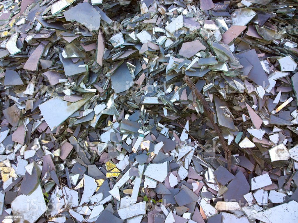 Broken glass. stock photo