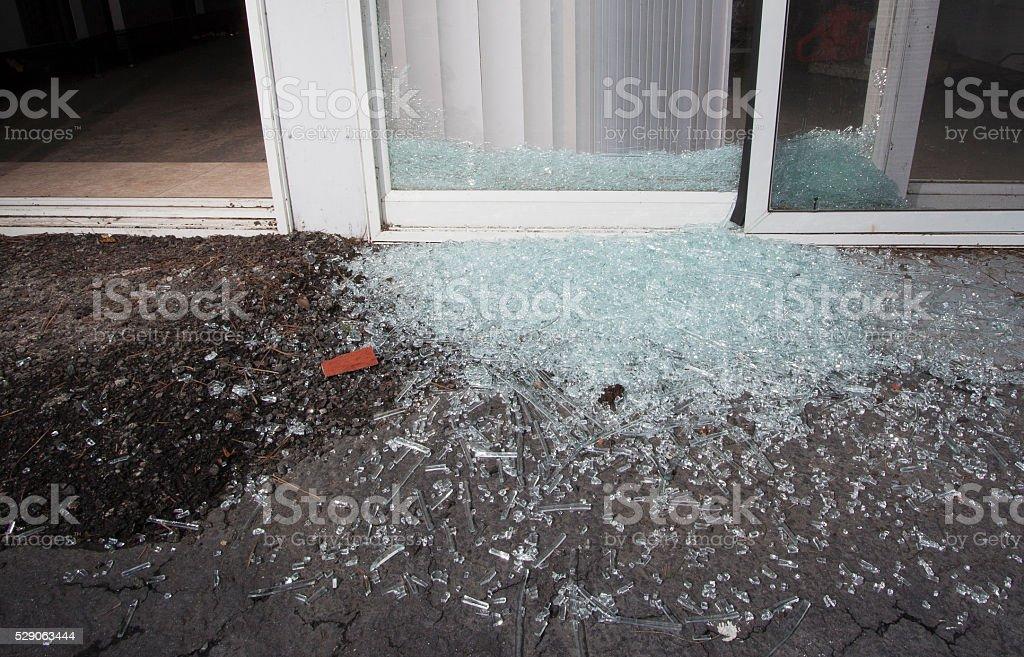 Broken glass stock photo