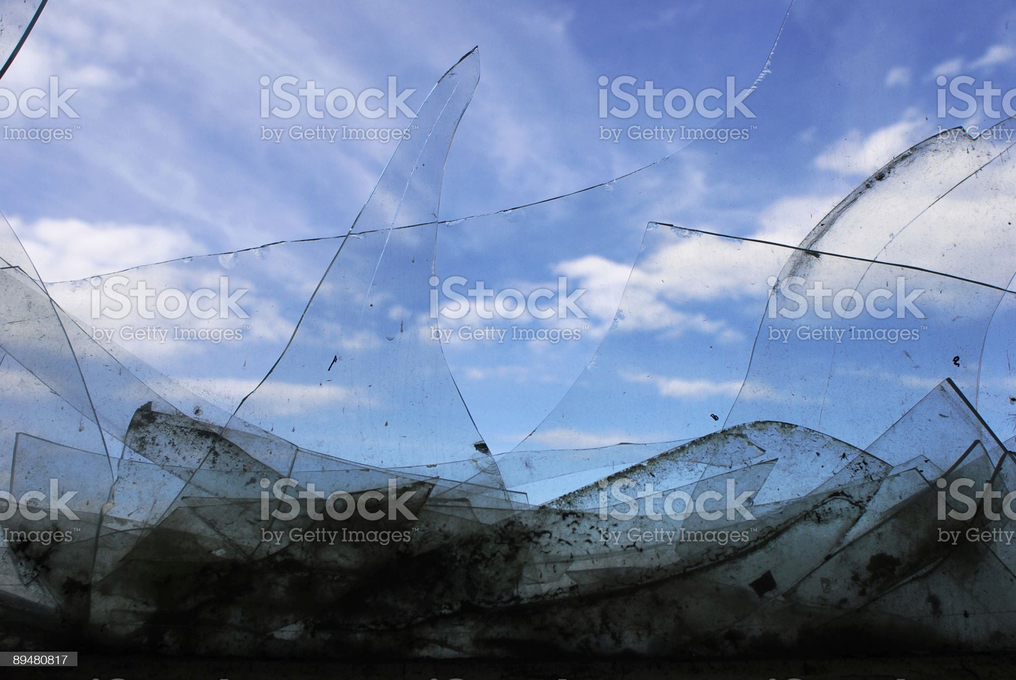 Broken glass. royalty-free stock photo