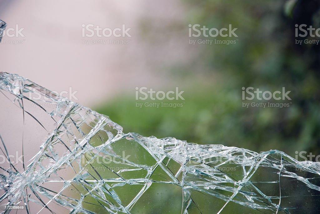 Broken glass, window-2 royalty-free stock photo