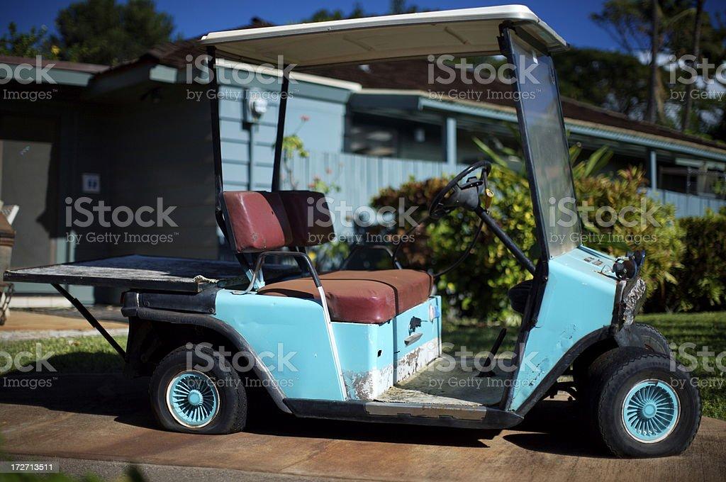 Cassé une voiturette de Golf photo libre de droits