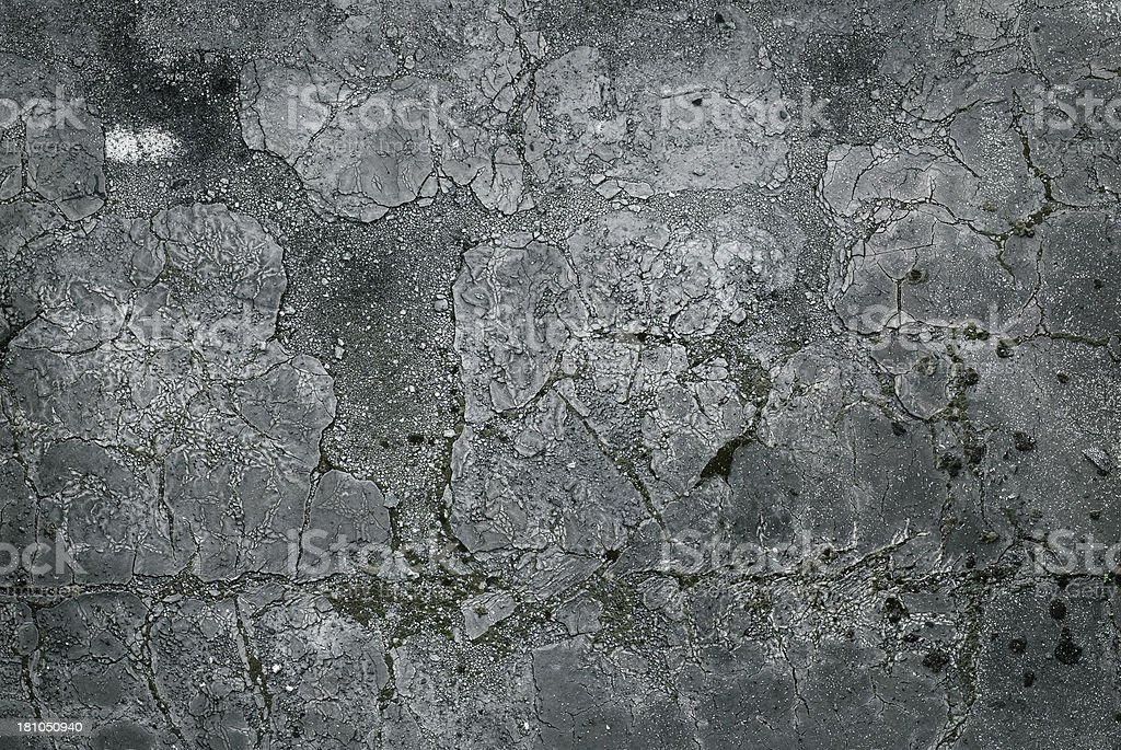 Broken grunge concrete pavement royalty-free stock photo