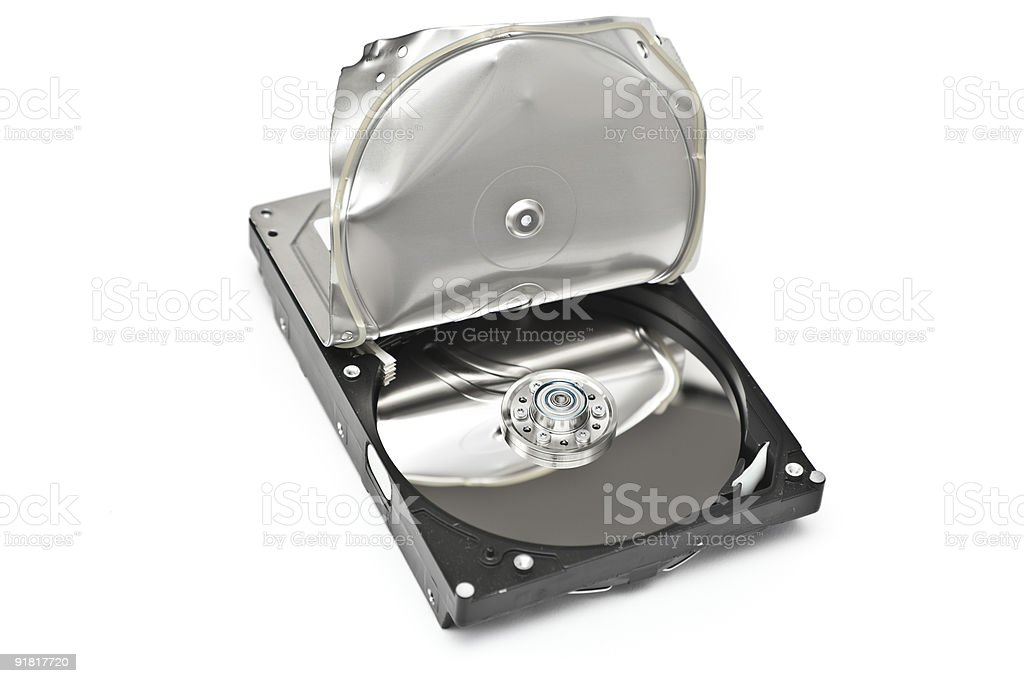 Broken Harddrive royalty-free stock photo