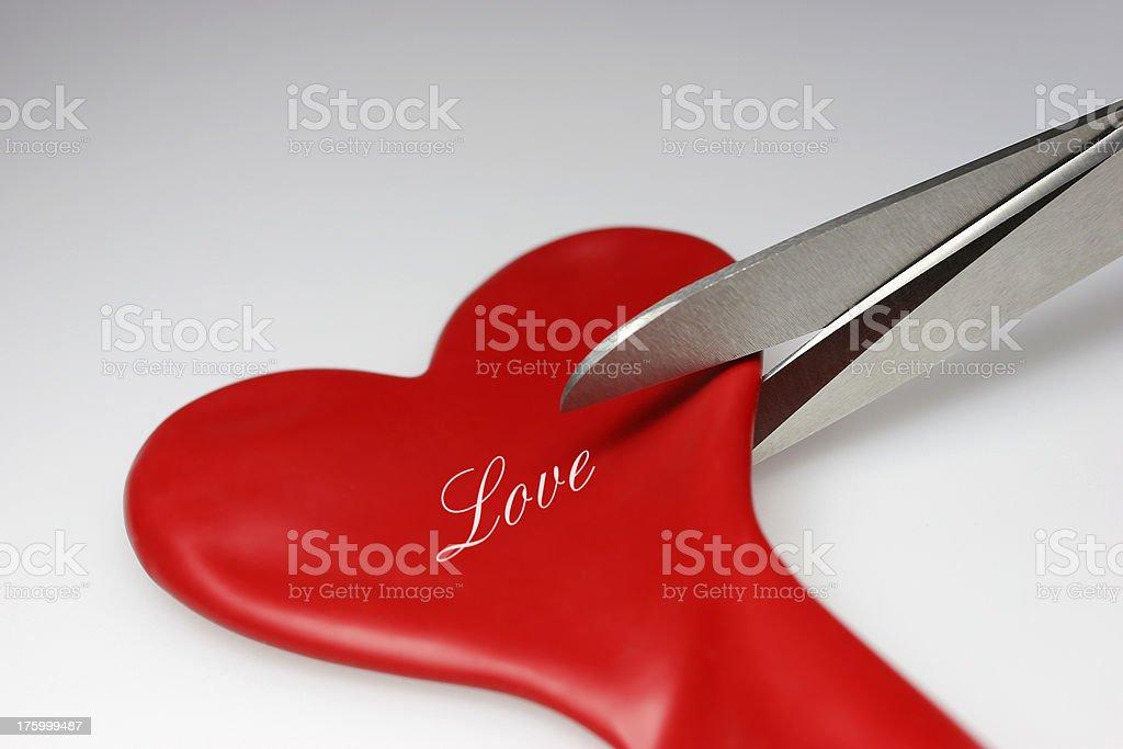 Broken heart balloon stock photo