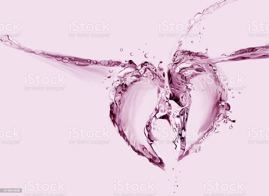Broken Heart of Water royalty-free stock photo