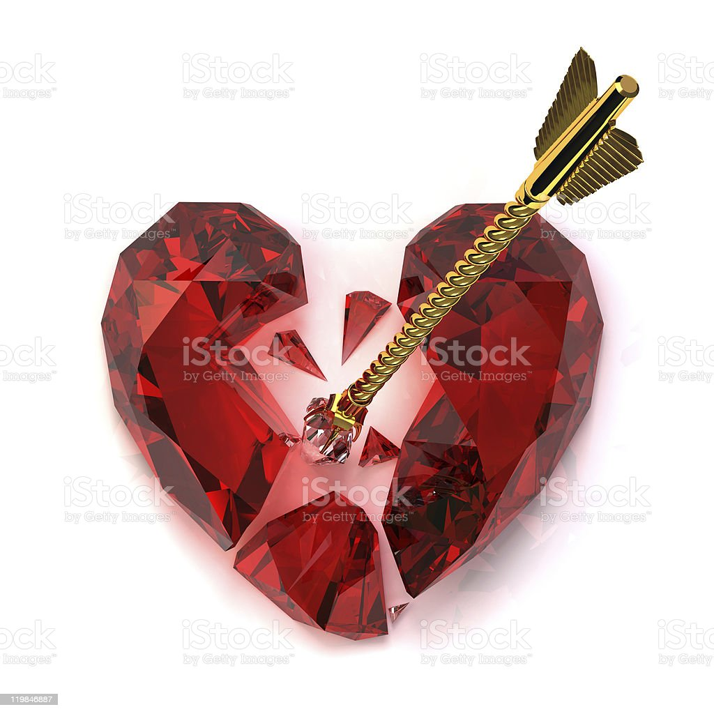 Broken Heart stock photo