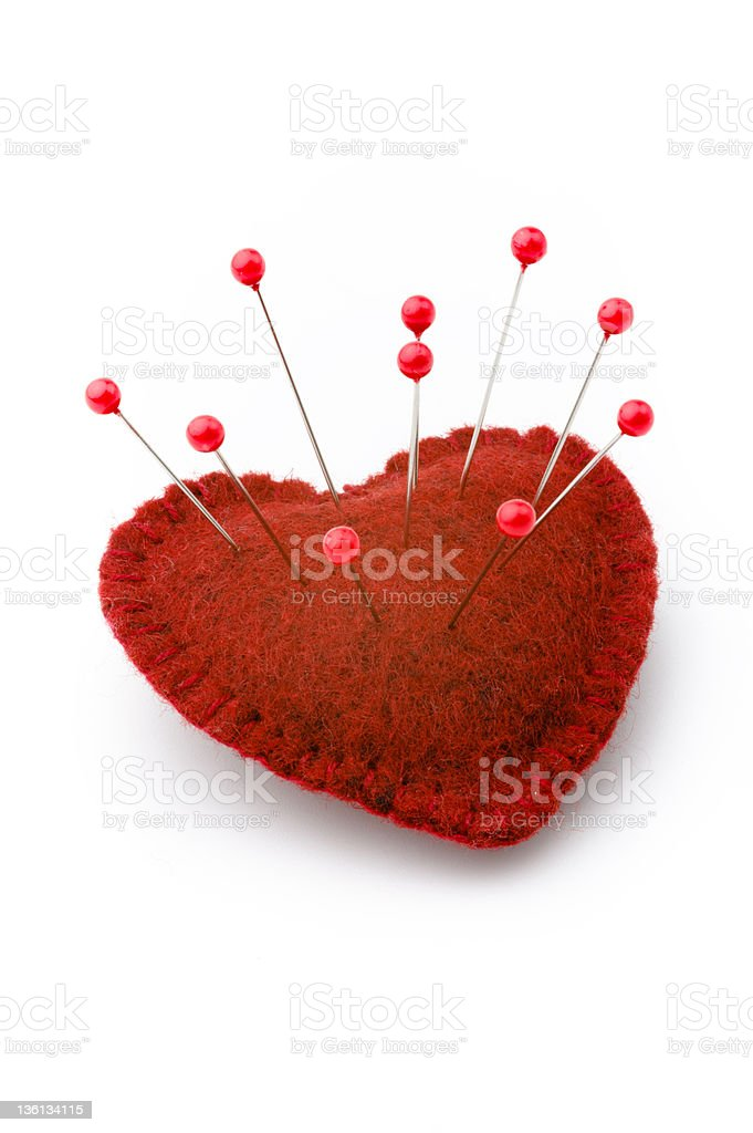 Broken heart royalty-free stock photo