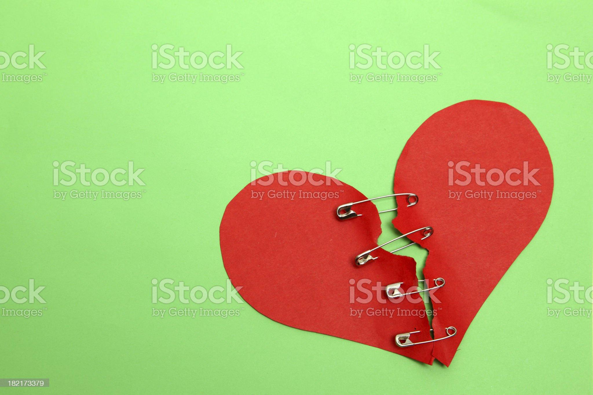 Broken Heart royalty-free stock photo