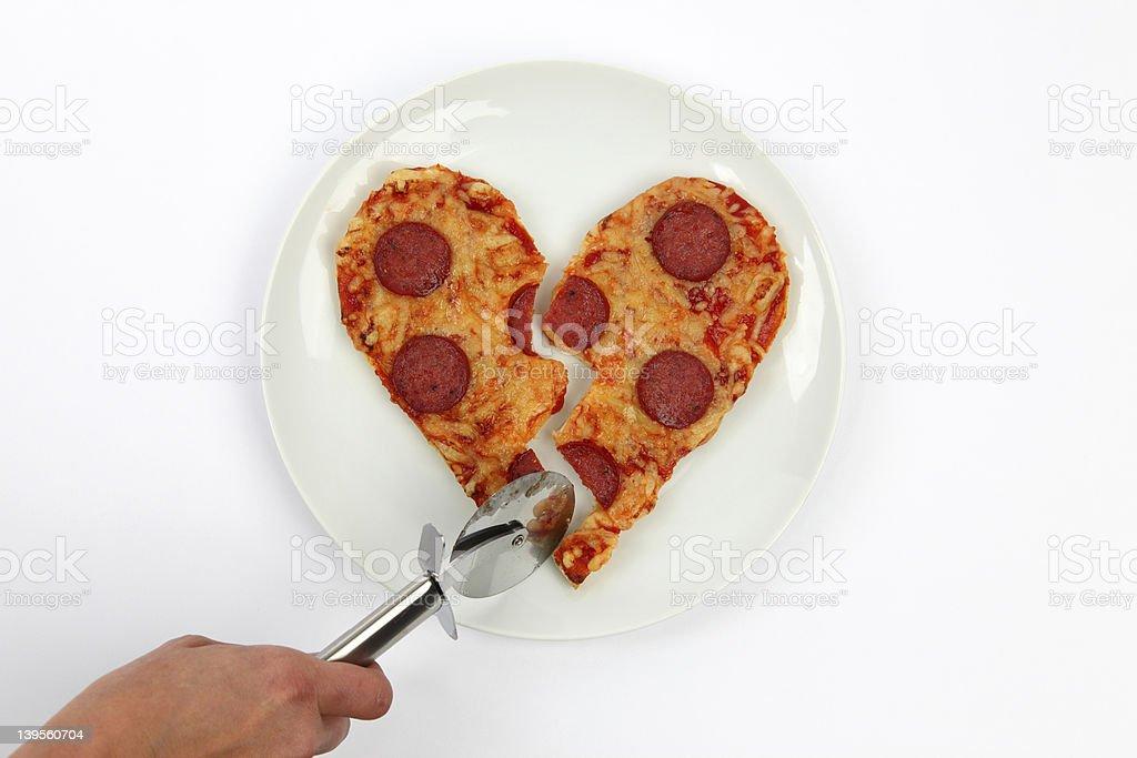 Broken Heart Pizza stock photo