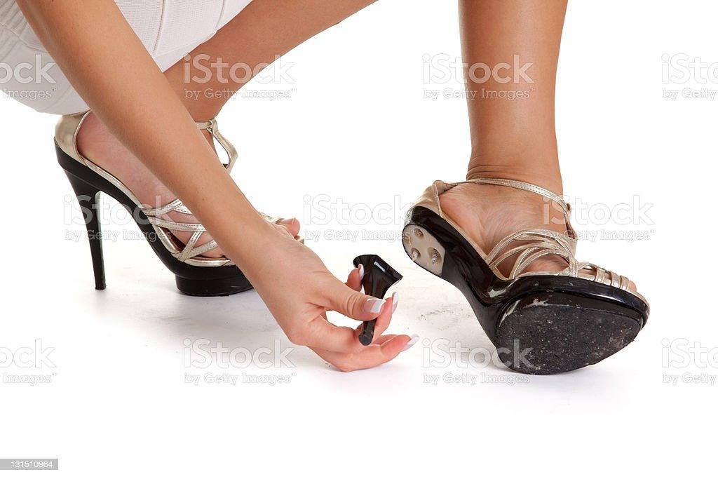 Broken heels royalty-free stock photo