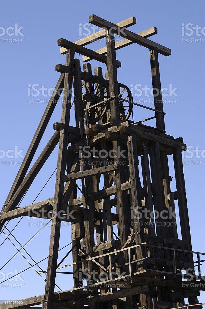 Broken Hill Mining Headframe royalty-free stock photo