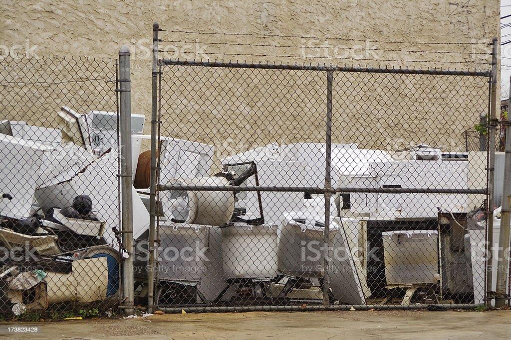 Broken home appliances royalty-free stock photo