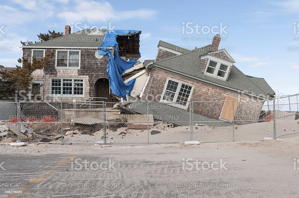 Broken Home stock photo