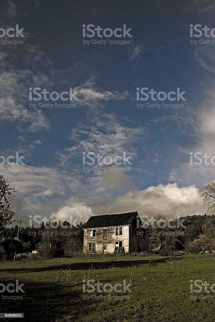 Broken Home stock photo