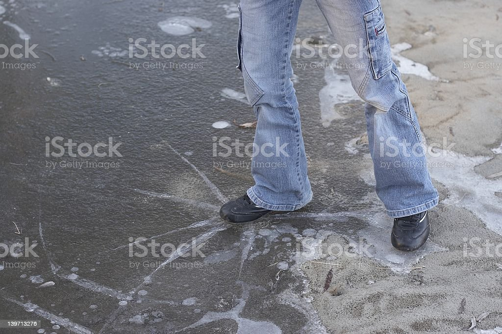 Broken ice stock photo