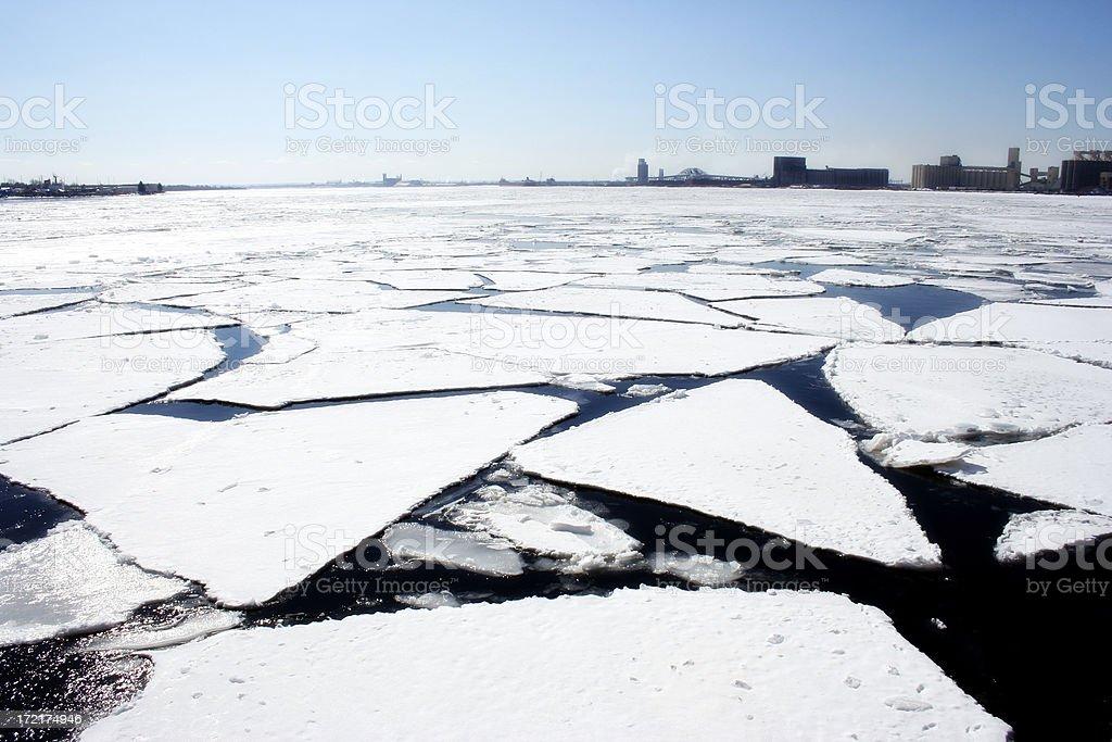 Broken Ice stock photo