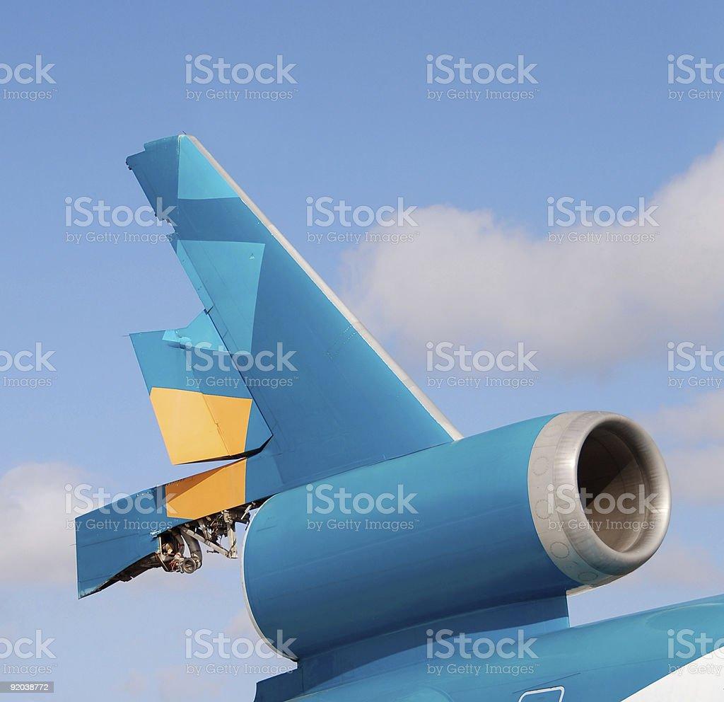 Broken jet tail royalty-free stock photo