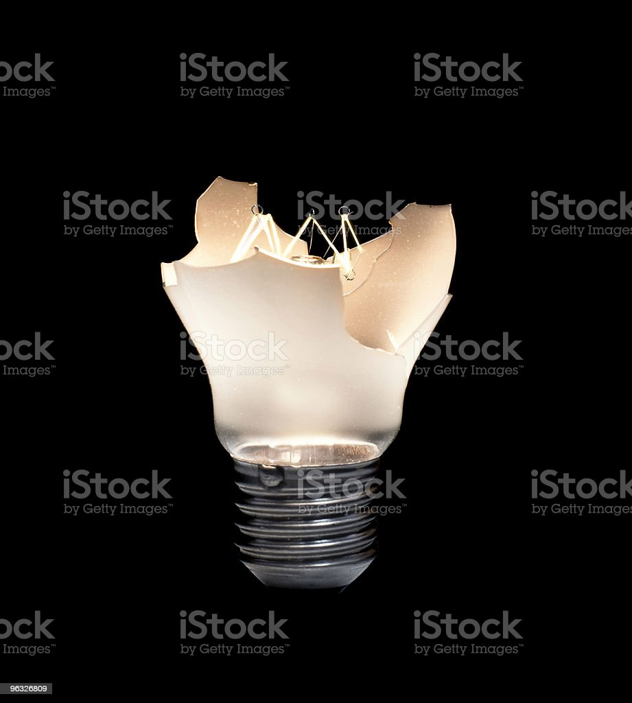 Broken Light Bulb royalty-free stock photo