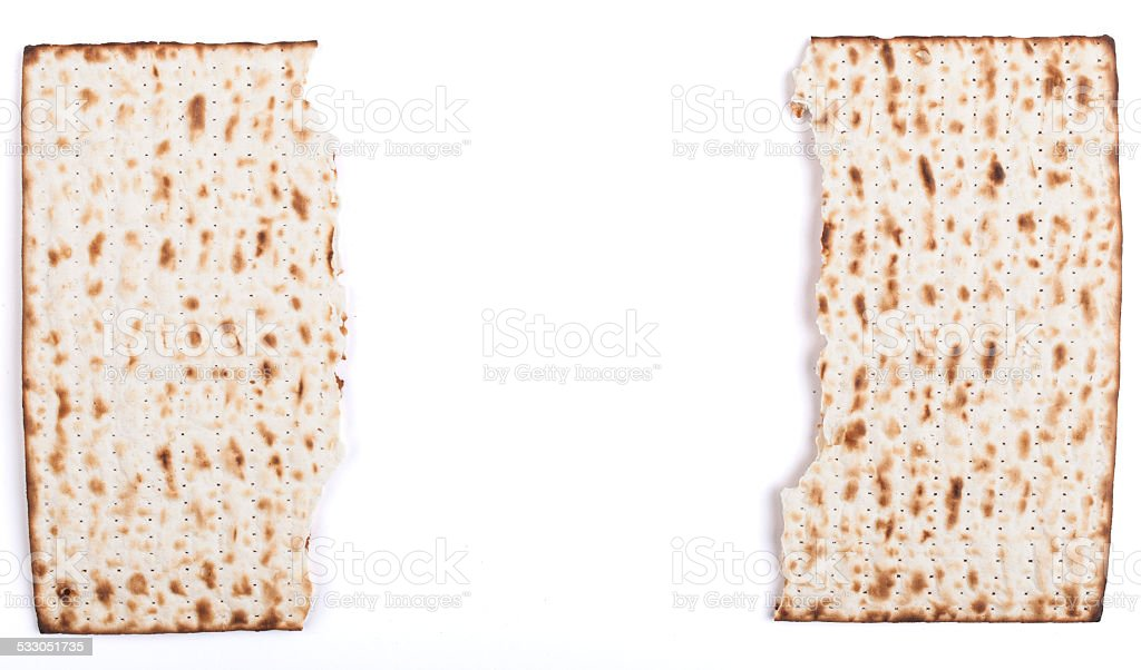 Broken Matza stock photo