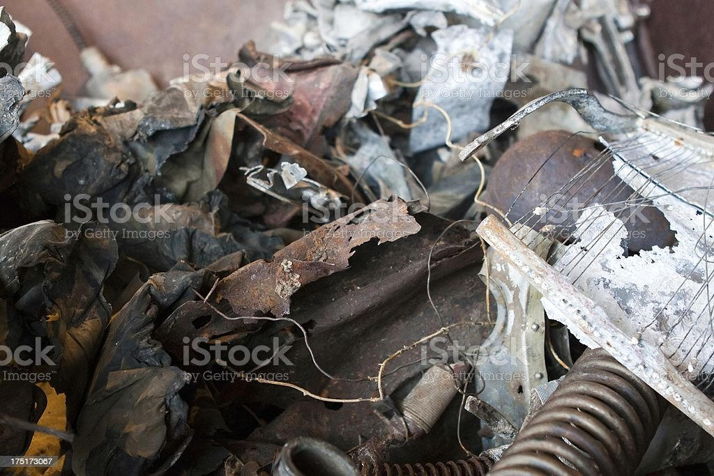 Broken Metal Junk in a Pile royalty-free stock photo