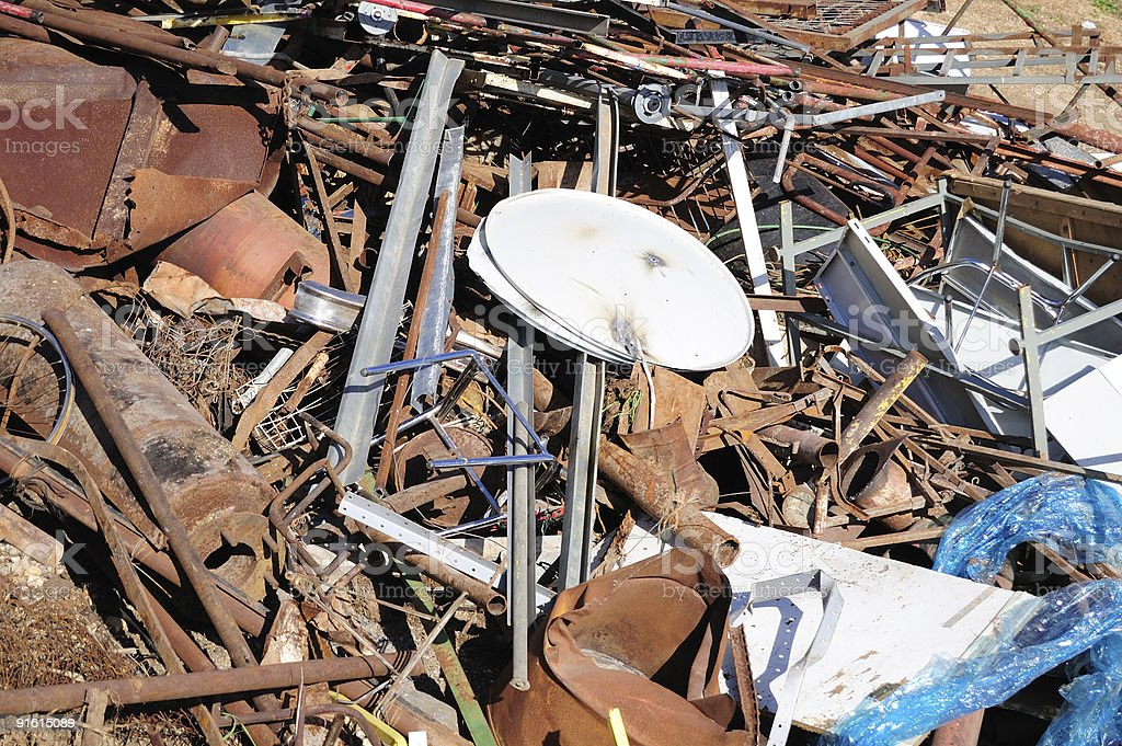 Broken metal royalty-free stock photo
