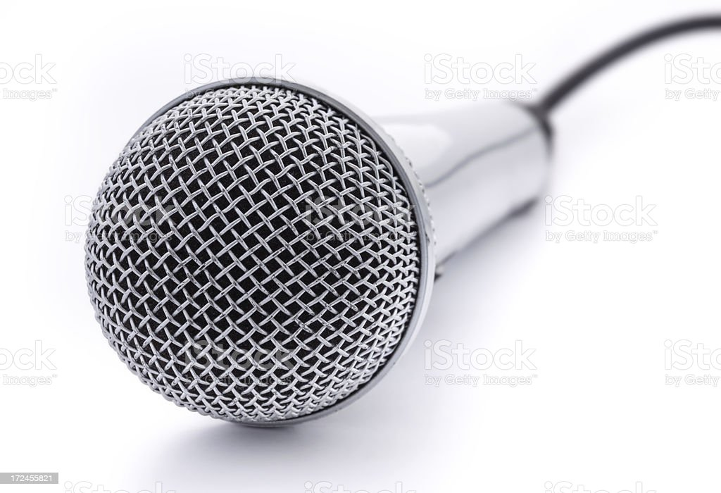 Broken microphone royalty-free stock photo