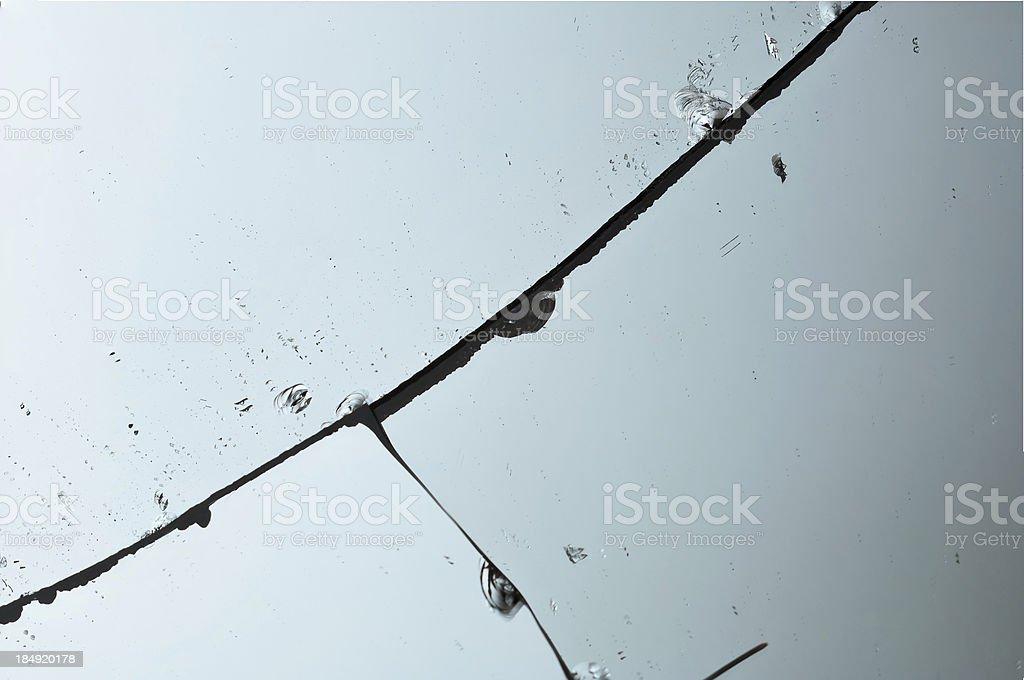 Broken Mirror stock photo