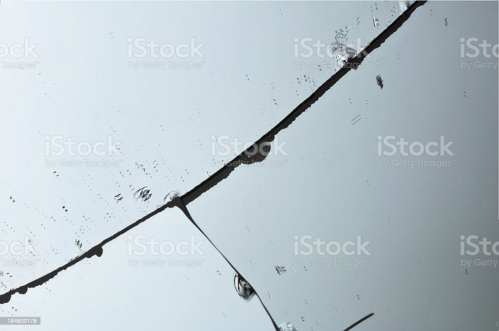 Broken Mirror stock photo