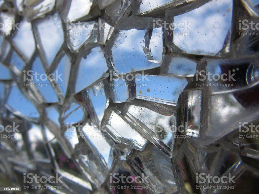 Broken Mirror Tiled Mosaic stock photo