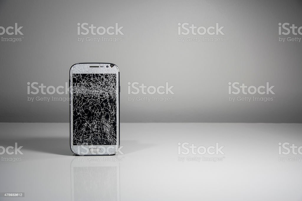 Broken Mobile Screen royalty-free stock photo