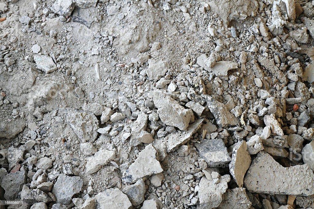Broken mortar stock photo