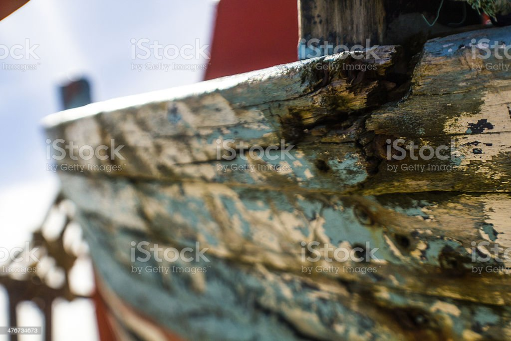 Broken Old Fishing Boat royalty-free stock photo