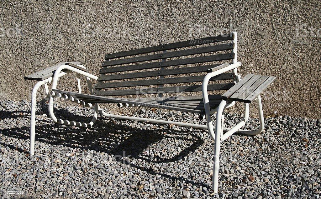 Broken Outdoor Swing stock photo