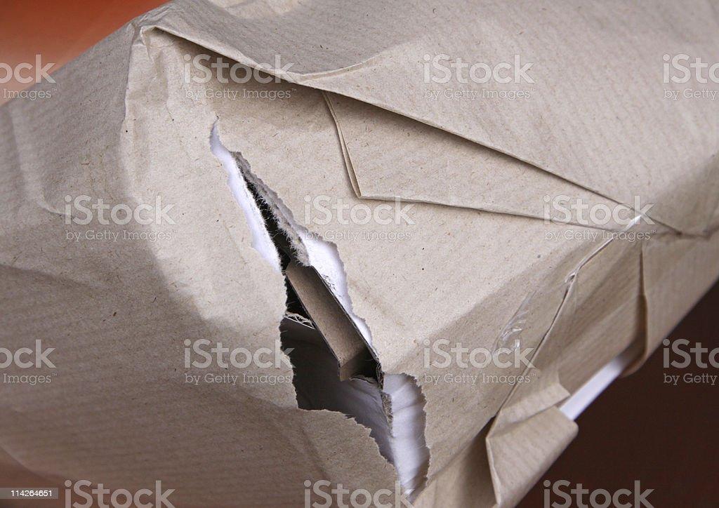 broken package stock photo