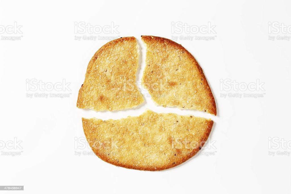 broken pancake royalty-free stock photo