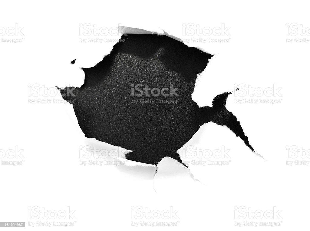 broken paper stock photo